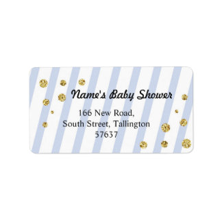 Étiquette Baby shower bleu d'étiquette de parties