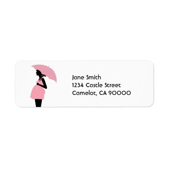 Étiquette Baby shower de concepteur [rose]
