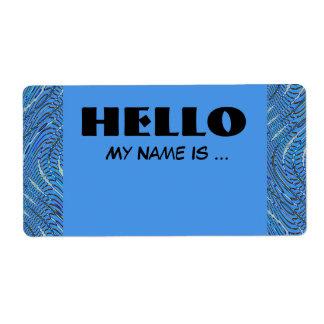 Étiquette badge nominatif bleu