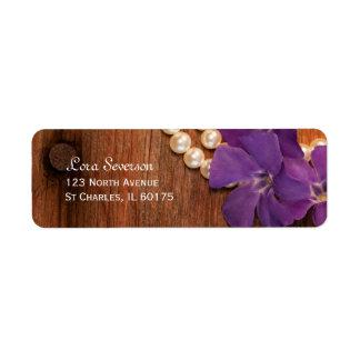 Étiquette Bigorneau, perles et pays pourpres en bois de
