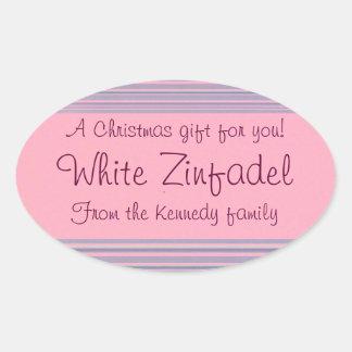 Étiquette blanc de vin de cadeau de Zinfadel