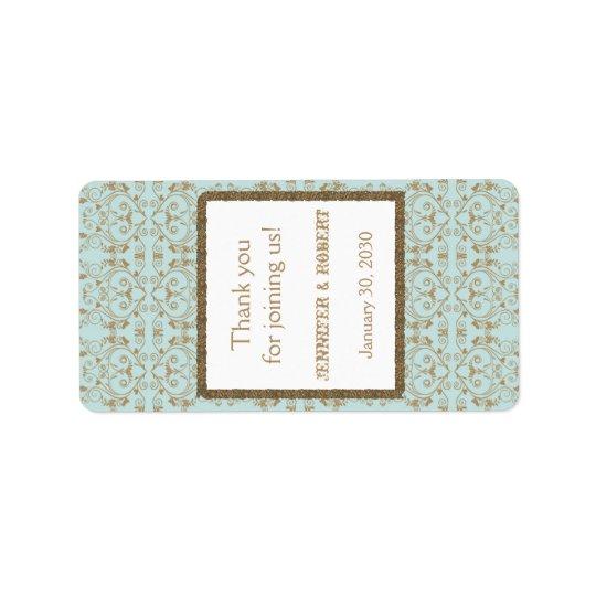 Étiquette bleu de baume à lèvres de mariage