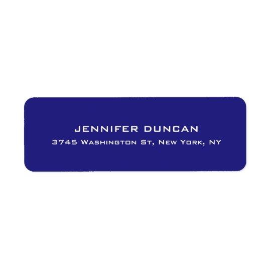 Étiquette Bleu profond unique mignon élégant moderne coloré
