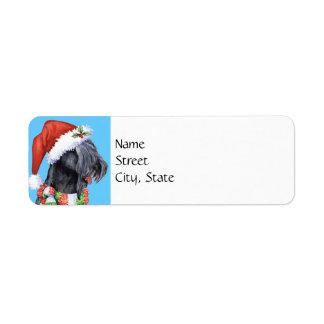 Étiquette Bleu Terrier heureux de Howlidays Kerry