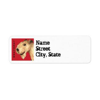 Étiquette Bloc de couleur de région des lacs Terrier