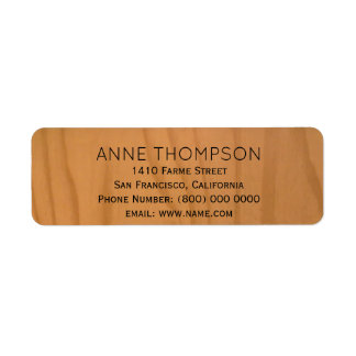 Étiquette bois rustique de faux avec le nom