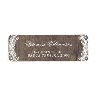 Étiquette Bois rustique de grange de pays et mariage de
