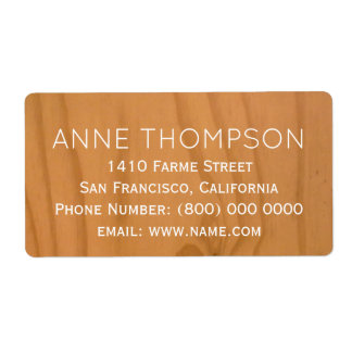 Étiquette bois rustique d'espace libre de faux avec le nom