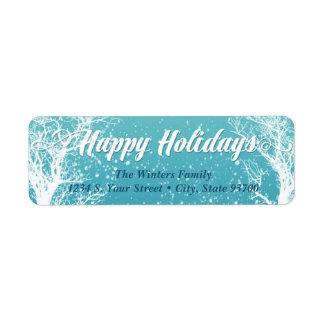 Étiquette Bonnes fêtes hiver