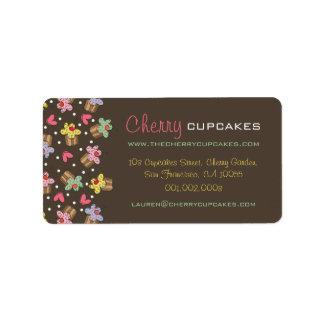 Étiquette Boulangerie de confiserie de petits gâteaux de