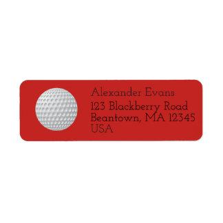 Étiquette Boule de golf