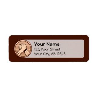 Étiquette Bronze de bras de fer