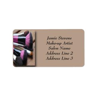 Étiquette Brosses de maquillage de maquilleur