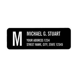Étiquette Caractères gras professionnels noirs et blancs de