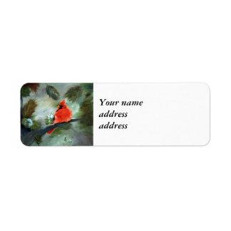 Étiquette Cardinal d'hiver