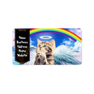 Étiquette chat d'arc-en-ciel - prière de chat - chat - chats