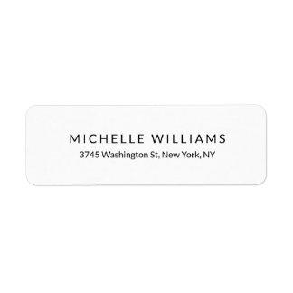 Étiquette Chic minimaliste blanc noir moderne élégant simple