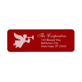 Étiquette Chrétien laid d'ange de chandail de Noël religieux