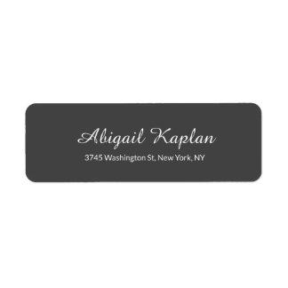 Étiquette Classique gris professionnel minimaliste
