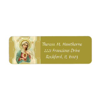 Étiquette Coeur impeccable de Vierge Marie