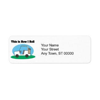 Étiquette Comment je roule (le chariot de golf)