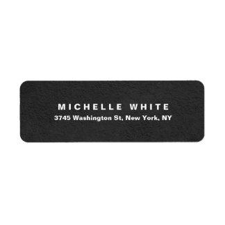Étiquette Conception grise minimaliste moderne élégante
