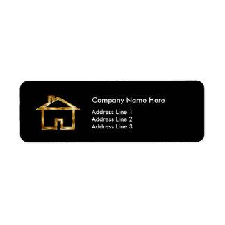 Étiquette Conception moderne de vrai agent immobilier chic