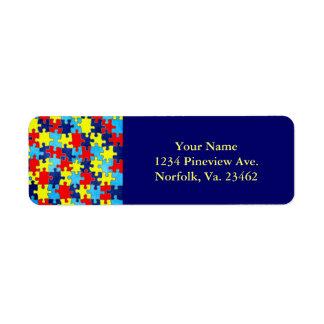 Étiquette Conscience-Puzzle d'autisme par Shirley Taylor