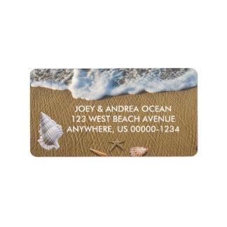 Étiquette Coquillages sur la plage