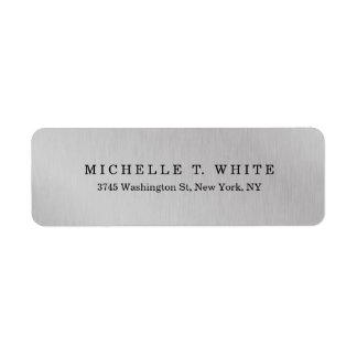 Étiquette Créatif gris minimaliste moderne simple