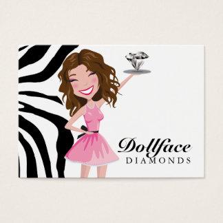 Étiquette d'anniversaire de diamant de 311 cartes de visite