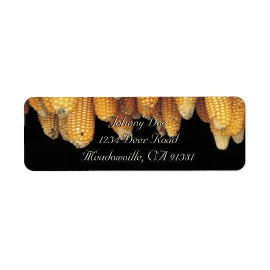 Étiquette d'Avery de rangée de maïs