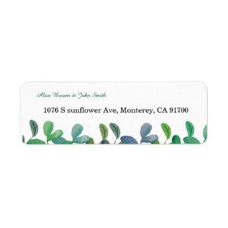 Étiquette de adresse botanique de retour de