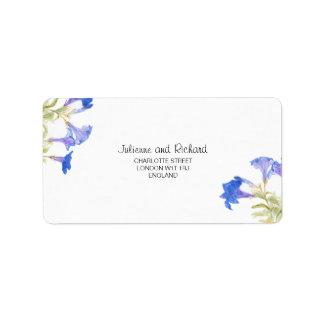 Étiquette de adresse botanique floral rustique de
