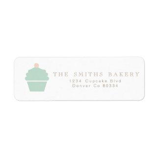 Étiquette de adresse chic de petit gâteau