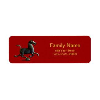 Étiquette de adresse chinois de retour de zodiaque