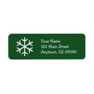 Étiquette de adresse D (arbre) de flocon de neige