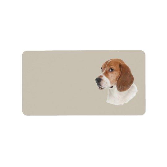 Étiquette de adresse de beagle