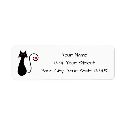 Étiquette de adresse de chat d'amour