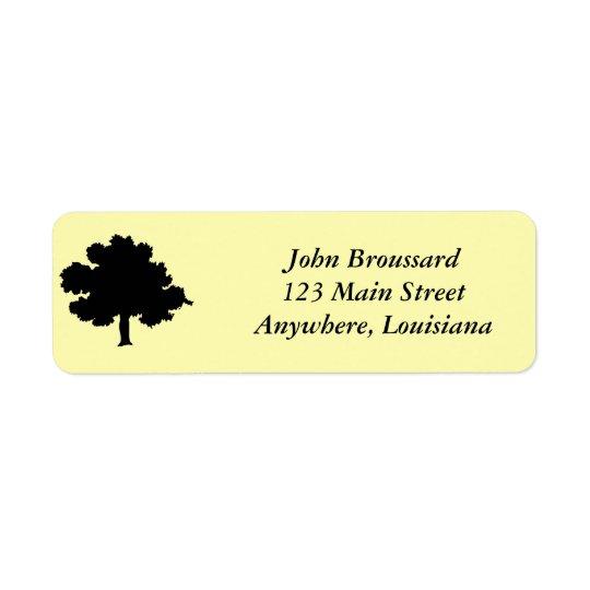 Étiquette de adresse de chêne