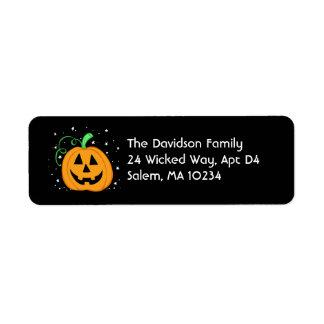 Étiquette de adresse de citrouille de Halloween