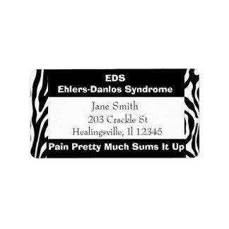 Étiquette de adresse de expédition de syndrome