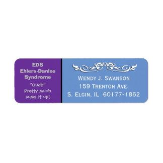 Étiquette de adresse de expédition de syndrome étiquette d'adresse retour