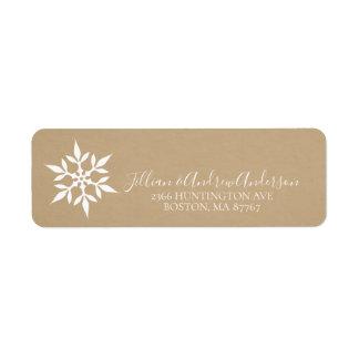 Étiquette de adresse de flocon de neige d'hiver de