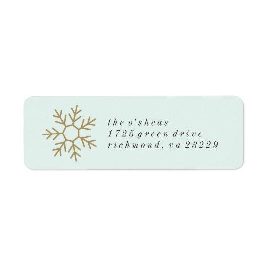 Étiquette de adresse de frontière de flocon de