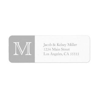 Étiquette de adresse de monogramme