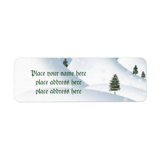 Étiquette de adresse de neige d'hiver