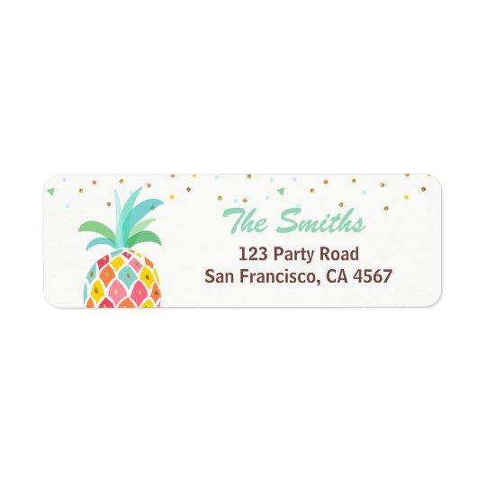 Étiquette de adresse de retour Aloha Luau tropical
