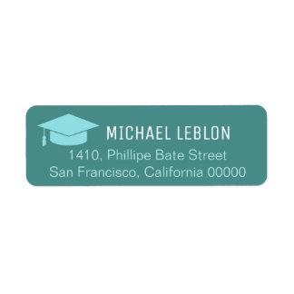 étiquette de adresse de retour de bleu avec