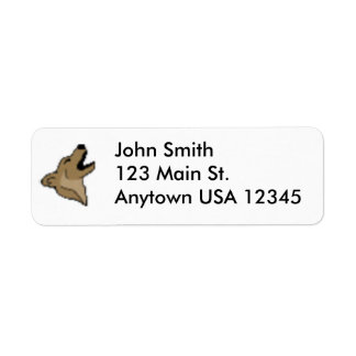 Étiquette de adresse de retour de corgi